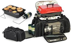 Picnic Plus Game Day Convenient Travel Grill Set