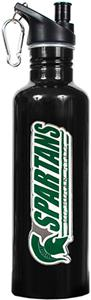 NCAA Michigan State Spartans Black Water Bottle