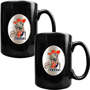 NCAA Mississippi Black Ceramic Mug (Set of 2)