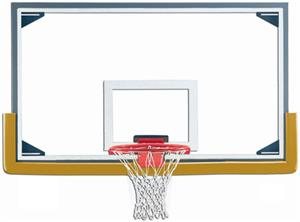 "Gared LXP4200 Reg 72"" Glass / Steel Backboards"