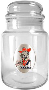 NCAA Mississippi Rebels Glass Candy Jar