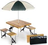 Picnic Plus Portable Wood Folding Picnic Table