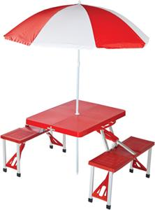 Picnic Plus Portable Folding Table with Umbrella