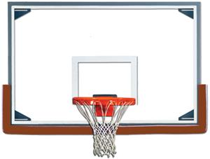 "Gared RG Tall 48"" x 72"" Glass / Steel Backboards"
