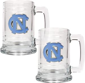 NCAA North Carolina Tar Heels 15oz Glass Tankard