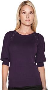 Lilac Bloom Women's Emma 3/4 Sleeve Sweater