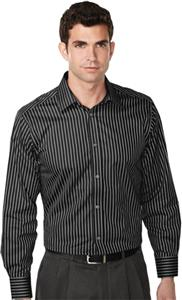 TRI MOUNTAIN Tyson Non-Iron Striped Dress Shirt