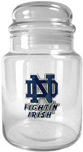 NCAA Notre Dame Fighting Irish Glass Candy Jar