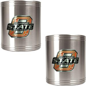 NCAA Oklahoma State Stainless Steel Can Holders