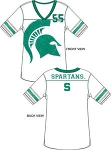Emerson Street Michigan State Spartan Jersey Tunic
