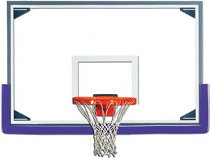 "Gared AFRG48 Reg 48"" x 72"" Glass / Alum Backboards"