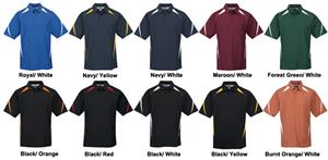 TRI MOUNTAIN Lightning Birdseye Mesh Polo