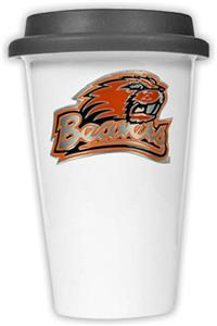NCAA Oregon State Beavers Ceramic Cup w/Black Lid