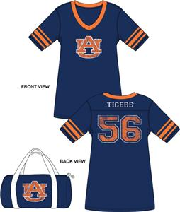 Emerson Street Auburn Tigers Jersey Nightshirt