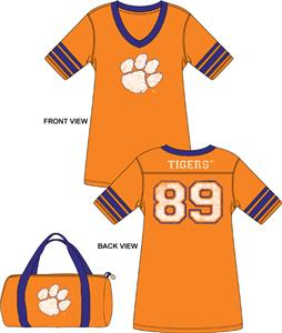 Emerson Street Clemson Tigers Jersey Nightshirt