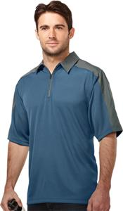 TRI MOUNTAIN Camino Jacquard Knit 1/4 Zip Polo