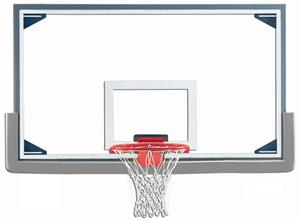 "Gared Budget 72"" Glass Baskeball Backboard Pkg"