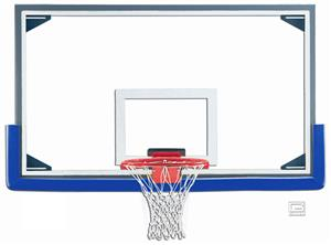 "Gared Master 72"" Glass Baskeball Backboard Pkg"