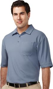 TRI MOUNTAIN Endurance Pocket Waffle Knit Polo