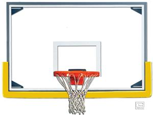 "Gared Scholastic 72"" Glass Baskeball Backboard Pkg"