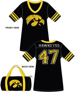 Emerson Street Iowa Hawkeyes Jersey Nightshirt