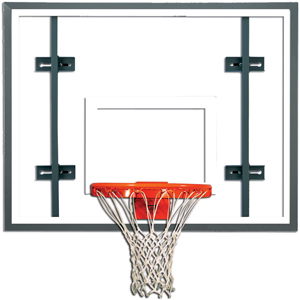 "Gared 3050RG Specialty 54"" Glass / Steel Backboard"