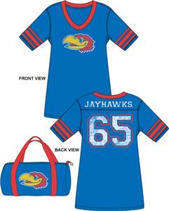 Emerson Street Kansas Jayhawks Jersey Nightshirt