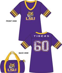 Emerson Street LSU Tigers Jersey Nightshirt