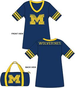 Michigan Wolverines Jersey Nightshirt