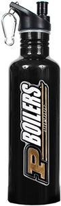 NCAA Purdue Boilermakers Black Water Bottle