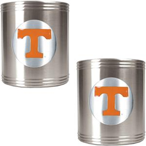 NCAA U of Tennessee Stainless Steel Can Holders