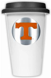 NCAA Tennessee Volunteers Ceramic Cup w/Black Lid