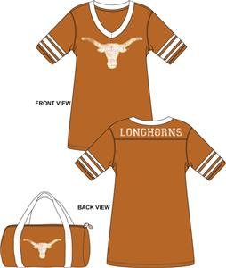 Emerson Street Texas Longhorns Jersey Nightshirt