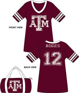 Emerson Street Texas A&amp;M Aggies Jersey Nightshirt