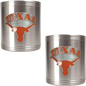 NCAA Texas Longhorns Stainless Steel Can Holders