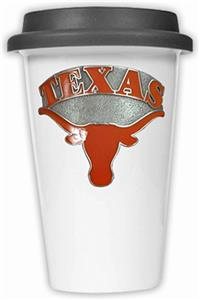 NCAA Texas Longhorns Ceramic Cup w/Black Lid