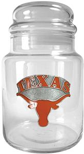 NCAA Texas Longhorns Glass Candy Jar