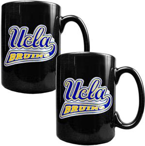 NCAA UCLA Bruins Black Ceramic Mug (Set of 2)