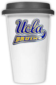 NCAA UCLA Bruins Ceramic Cup w/Black Lid