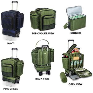 Picnic Time Excursion Insulated Cooler Trolley