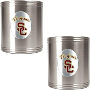 NCAA USC Trojans Stainless Steel Can Holders