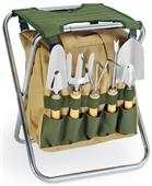 Picnic Time Gardener Folding Seat with Tools