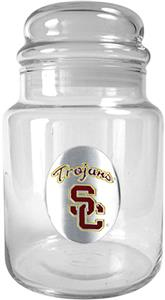 NCAA USC Trojans Glass Candy Jar