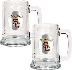 NCAA USC Trojans 15oz Glass Tankard