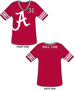 Alabama University Jersey Color Tunic
