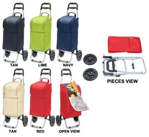 Picnic Time Lightweight Insulated Cart Cooler
