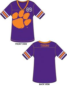 Emerson Street Clemson Jersey Color Tunic