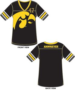 Iowa Hawkeyes Jersey Color Tunic