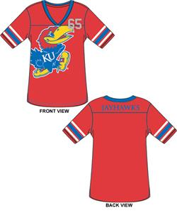 Kansas Jayhawks Jersey Color Tunic