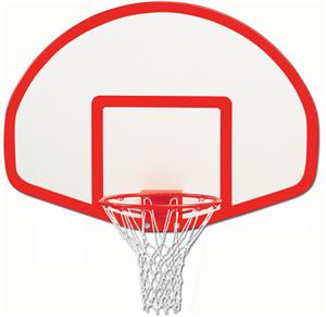 "Gared 39"" x 54"" Fiberglass Fan-Shaped Backboards"